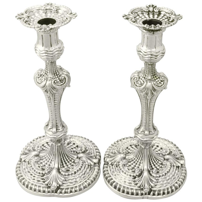 Georgian Sterling Silver Candlesticks