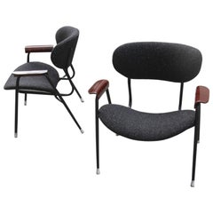 Mid-Century Modern Chairs Gastone Rinaldi for RIMA Design 1950s Black