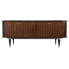 Elegant French Art Deco Macassar Sideboard, 1940s