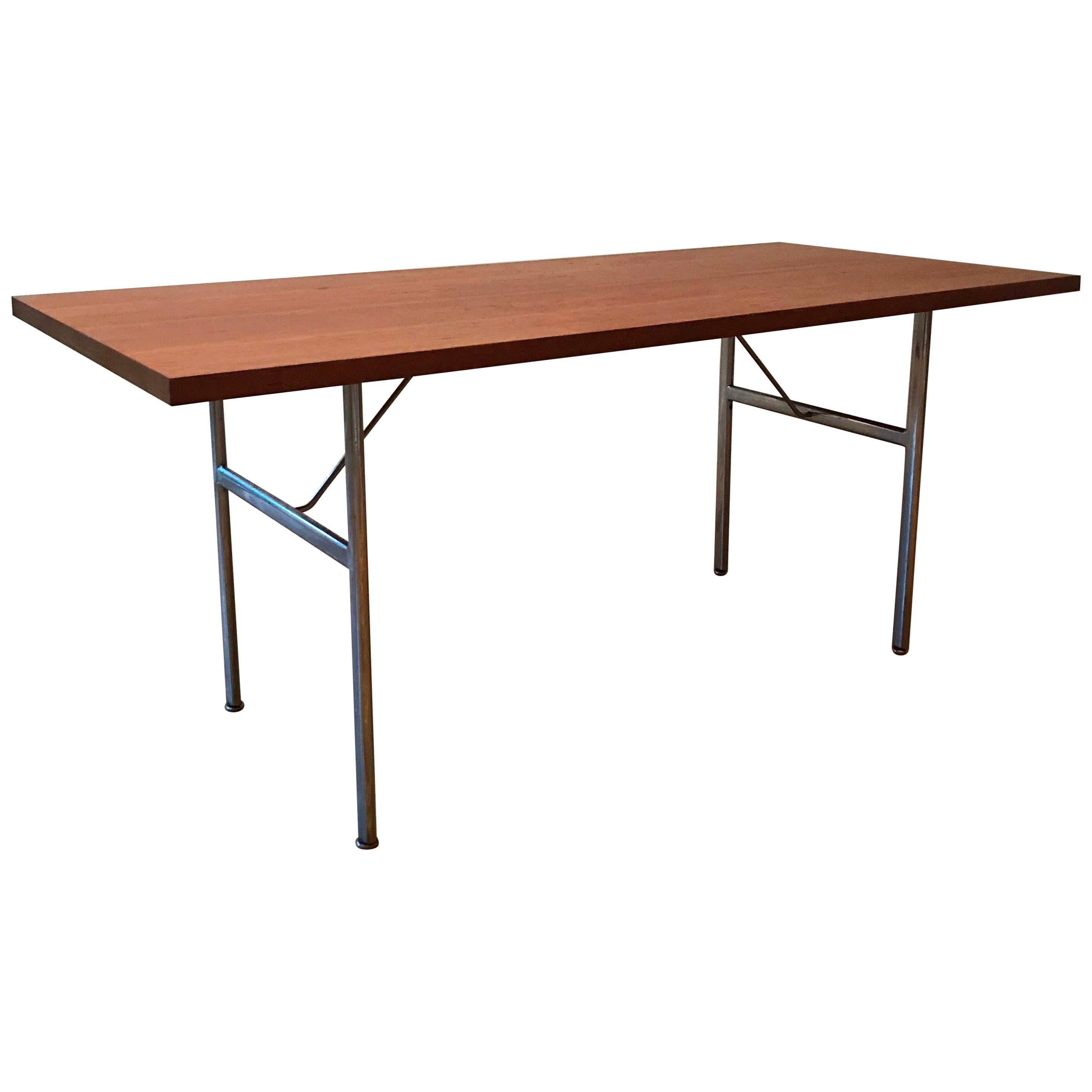 George Nelson For Herman Miller Steel Frame Dining Table For Sale