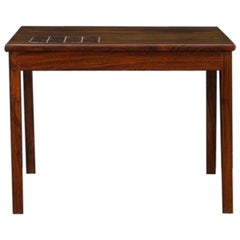 Coffee Table Rosewood Tiles Danish Design Vintage