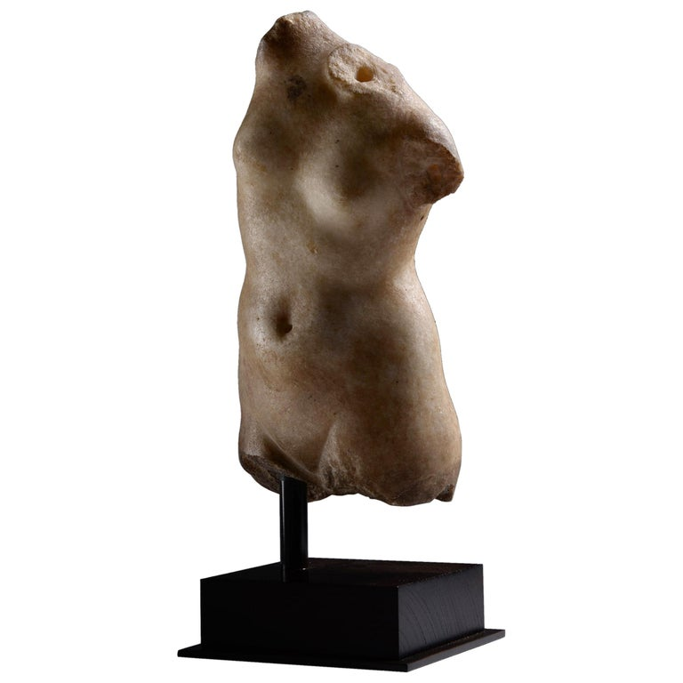 Ancient Greek Marble Torso of Goddess Aphrodite, 100 BC