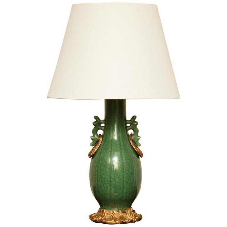 Chinese Porcelain Ormolu Mounted Table Lamp