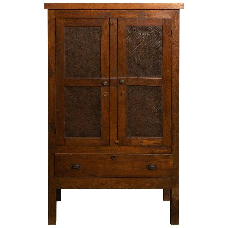 19th Century Oak Pie Safe For Sale