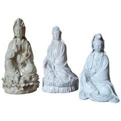 Three Buddha's Blanc de Chine One in Original Case