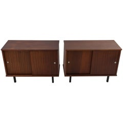 Pair of Cabinets with Sliding Doors, Dutch 1960s