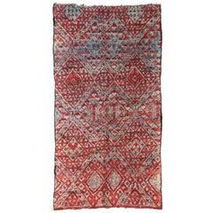 Vintage Beni M'Guild Rug, Berber Moroccan Rug with Tribal Style