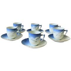 Midcentury Scandinavian Porcelain Coffee Espresso Demitasse Set