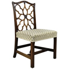Antique Side Chair Victorian English Mahogany Chippendale Revival, circa 1900