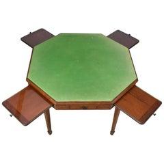 Antique Metamorphic Bridge Card Table, Trollope & Colls, Mahogany Games