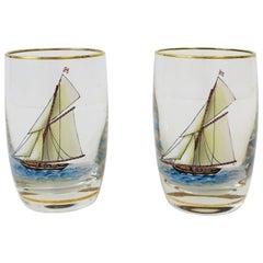 Midcentury Nautical Apperitif or Shot Glasses
