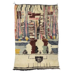 Contemporary Abstract Berber Moroccan Rug with Modern Bauhaus Style