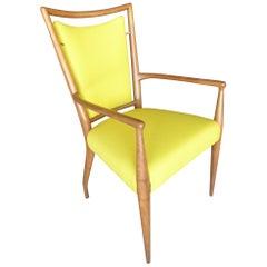 Armchair in Bleached Walnut by J. Stuart Clingman for Widdicomb