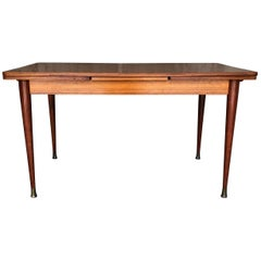 French Vintage Extendable Mahogany Dining Table, 1950s