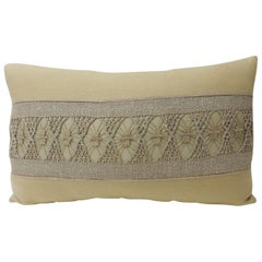Yellow Woven Linen Swedish Decorative Bolster Pillow