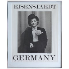 Marlene Dietrich Poster by Alfred Eisenstaedt, Hand-Signed by the Photographer