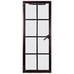 Iron Frame Window with Tempered Glass
