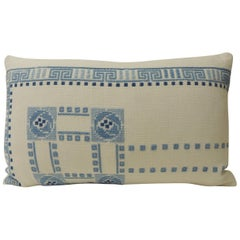 Blue and White Woven Greek Isle Decorative Bolster Pillow