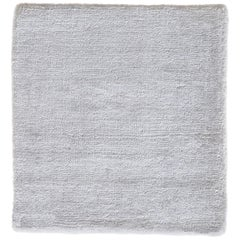 White Hand Woven Luxe Texture Soft Shine Smooth Finish Bamboo Silk Handmade Rug