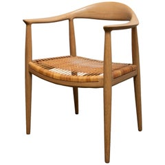 Hans Wegner JH 501 Armchair with Caned Seat from 1950s