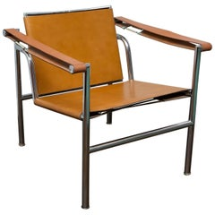 Le Corbusier LC1 Leather Sling Chair Imported by Stendig