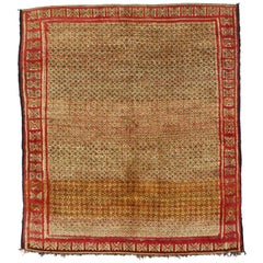 Vintage Berber Moroccan Rug with Tribal Style, Earthy Rustic Moroccan Berber Rug