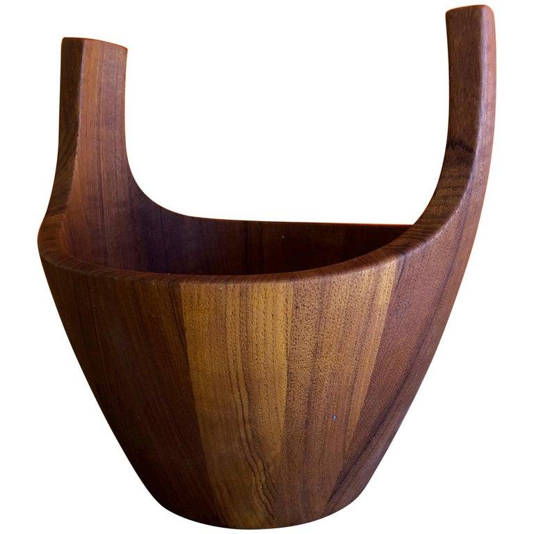 """Staved Teak """"Viking Bowl"""" by Jens Quistgaard for Dansk"""