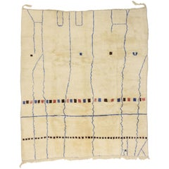 Modern Bauhaus Style Berber Moroccan Rug with Abstract Design