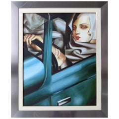 Self Portrait with Green Bugatti by Tamara De Lempicka