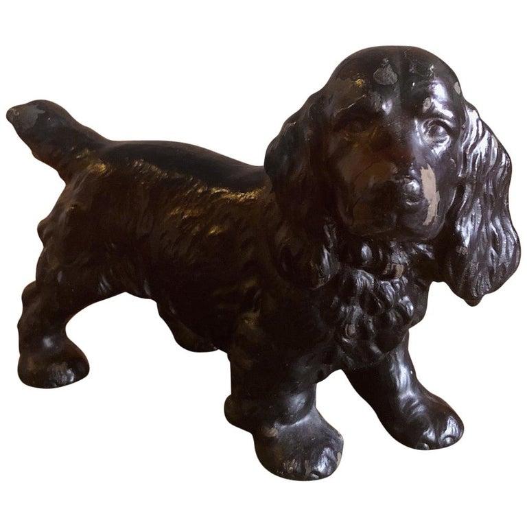 Cocker Spaniel Cast Iron Dog Doorstop by Hubley
