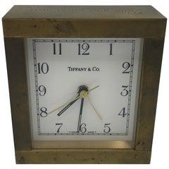 1950s Tiffany & Co. Modern Brass Desk Clock
