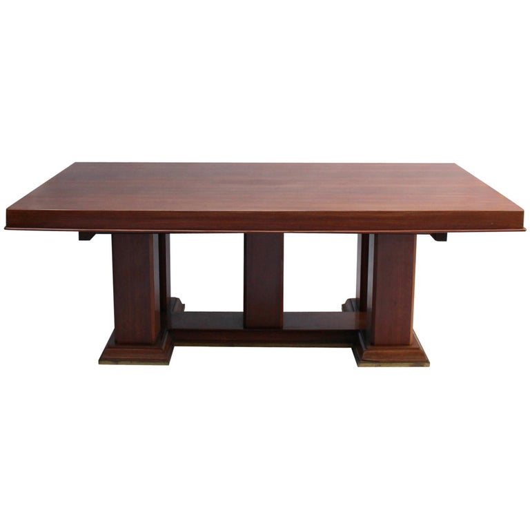 Fine French Art Deco Palisander Extendable Dining Table For Sale