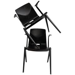 S22 Pyramid Stackable Armchair by Galvanitas The Netherlands, 1960s