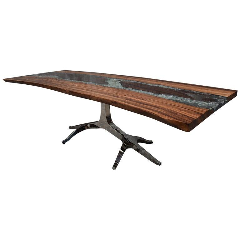 Sculptural Resin And Wood Desk