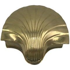 1960s Brass Seashell Box