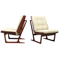 Pair of Plywood Lounge Chairs