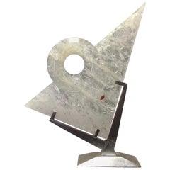 Modern Style Carved Rock Crystal Sculpture