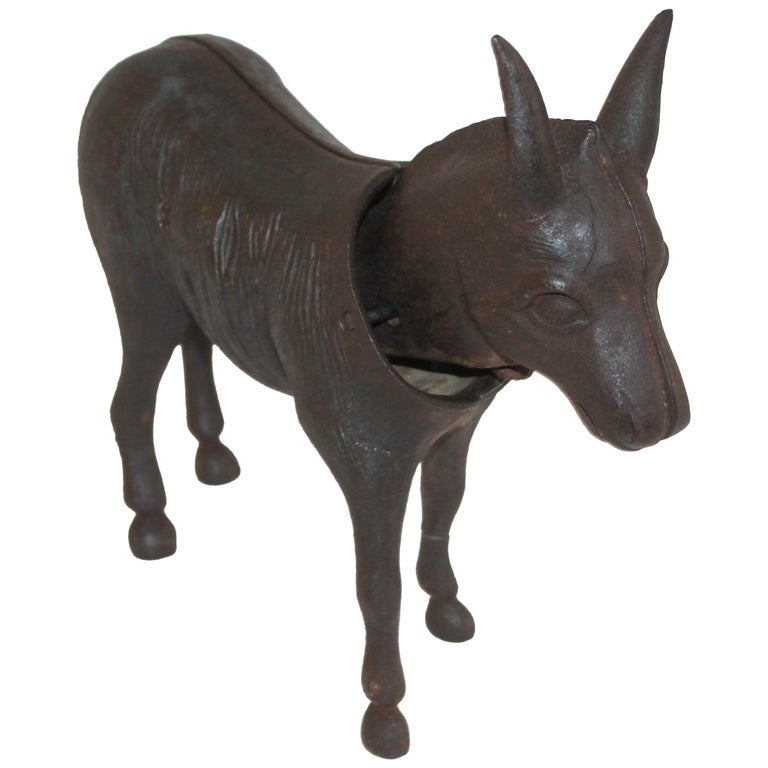 19Thc Donkey Door Stop with Nodder Head For Sale