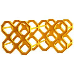 Mid-Century Modern Yellow Wine Racks