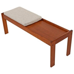 Solid Teak Coffee Table Bench by Komfort, Vintage 1960s Danish Modern