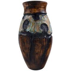 Møller & Bøgely, Art Nouveau Large Ceramic Vase of Glazed Ceramics