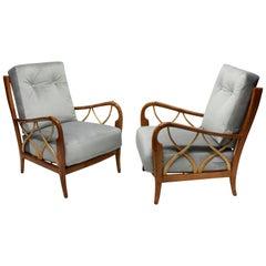 Pair of Elegant Paolo Buffa Club Chairs