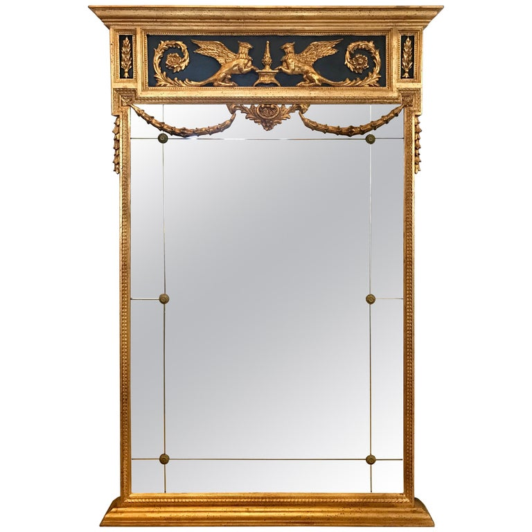 Decorative Arts Friedman Brothers Large Carved Gold Giltwood Mirror