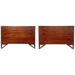 Pair of Midcentury Svend Langkilde Rosewood Chest of Drawers