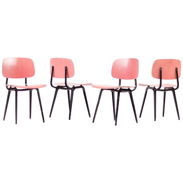 Friso Kramer Set of Four Revolt Chairs