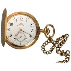 Gold Omega Chronometre, Swiss Pocket Watch