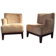 Pair of Modular Spanish Modernist Vintage Club Chairs