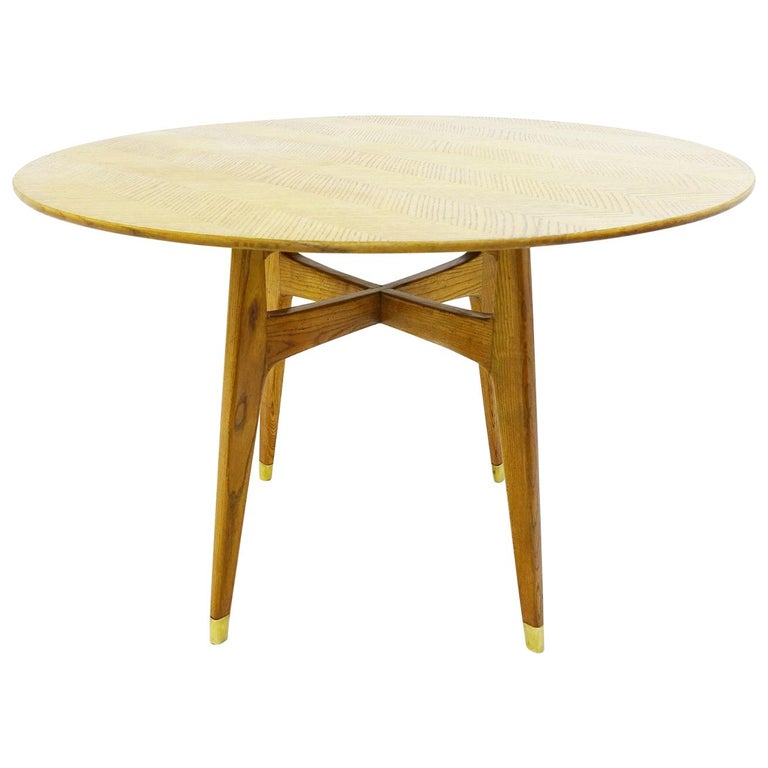 Rond Dinning Table by Gio Ponti, Italy, 1950s For Sale