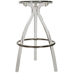 Mid-Century Modern Acrylic Lucite Counter or Bar Stool by Hill Mfg.