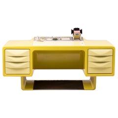 Ernest Igl Design Fiberglass Directors Desk by Wilhelm Werndl